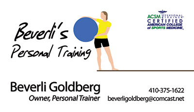 Beverli's Personal Training Business Card