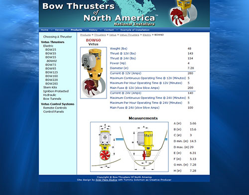 Bow Thrusters of North America Site