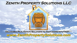 Zenith Property Solutions Business Card Front
